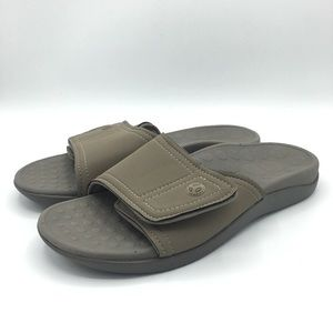 Vionic Orthaheel Kiwi Unisex Tan Slides Size 7